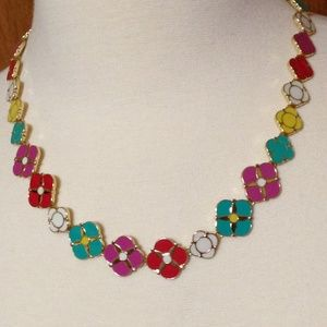 TALBOTS - Multi-Color Flower Necklace - Like New